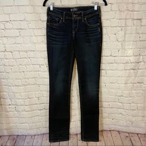 Silver AIKO mid straight jeans size 25x32